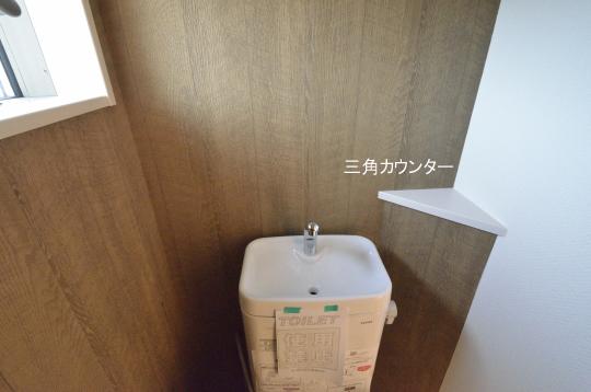 トイレ 三角カウンター