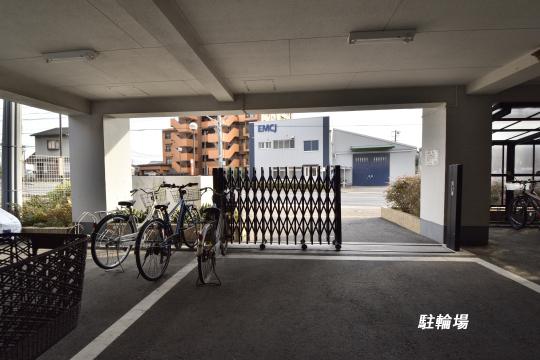 ユーハウス第二刈谷の駐輪場です。