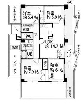 真栄マンション東刈谷601号室間取図