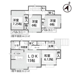 知立市山屋敷町平面図②号棟