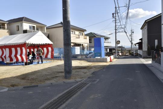 東浦町石浜青木4LDKの隣地地鎮祭の様子です。