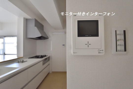 ユーハウス第二刈谷2B号室のモニター付きインターフォンです。