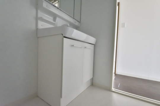 真栄マンション東刈谷601号室の洗面台。
