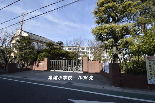 ユーハウス第二刈谷の学区は亀城小学校です。