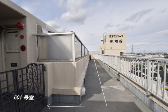真栄マンション東刈谷は6階のお部屋の中で一番エレベーターに近いお部屋です。ら