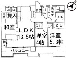 エスポワール寿402号室間取図