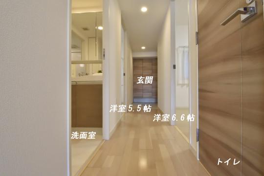 アトレ東刈谷グリーティングコートの洗面室とトイレの位置。