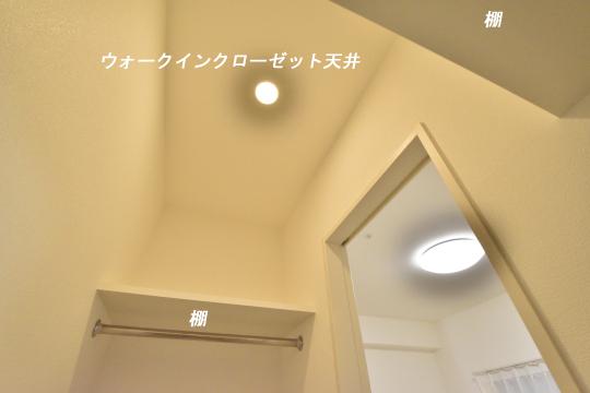 アトレ東刈谷グリーティングコートのウォークインクローゼット天井です。