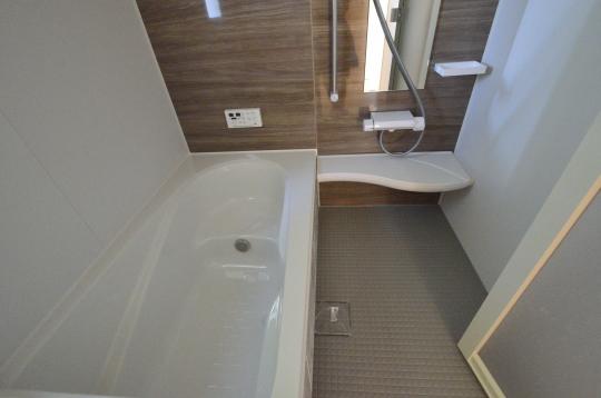 半身浴もできる浴槽
