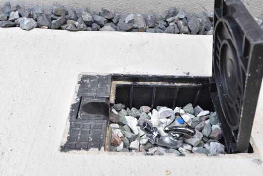 大府市桃山町1丁目3号棟の散水栓。