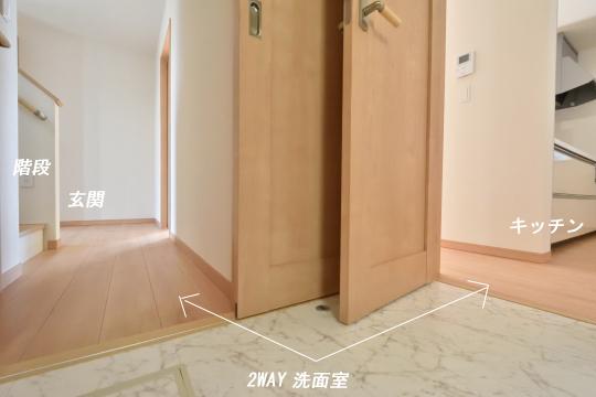 東浦町石浜青木4LDKの洗面室