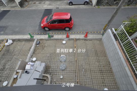 並列駐車2台分 知立市新築分譲