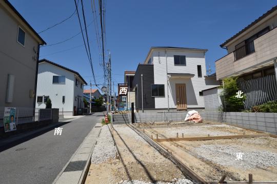 東浦町石浜青木新築戸建の駐車場。コンクリート施工前。