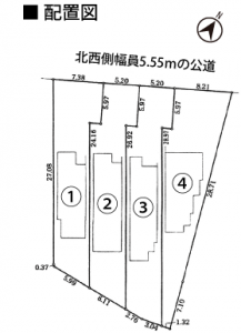 配置図 名古屋市緑区有松愛宕【全4棟】新築戸建