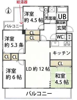 エスポア刈谷801号室間取図