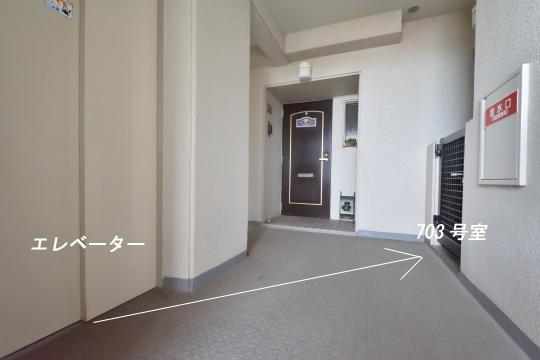 グローリアス刈谷703号室はエレベーターから近いです