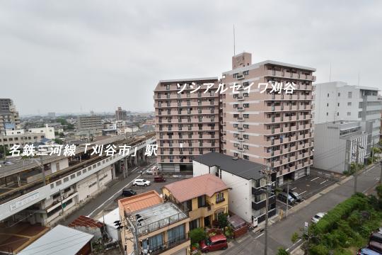 エスポア刈谷から眺めた名鉄三河線刈谷市駅ホーム