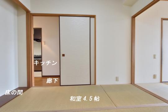 グローリアス刈谷の和室には床の間と押入があります