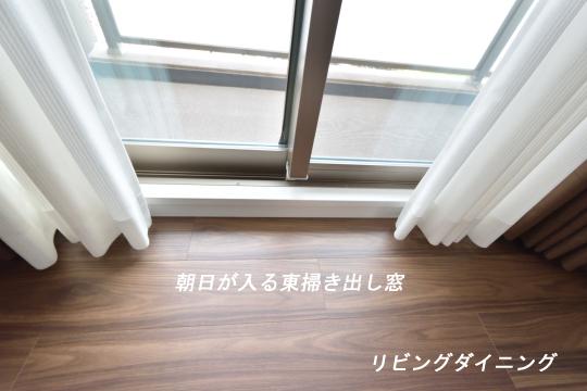 カルティア刈谷松坂のリビング東窓