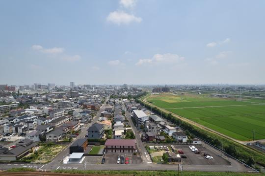 カルティア刈谷松坂の15階から眺めた刈谷市