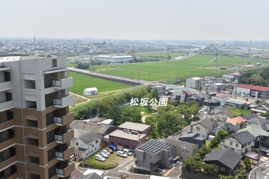 カルティア刈谷松坂から眺める松坂公園