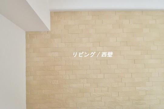 カルティア刈谷松坂のリビング壁はエコカラット施工