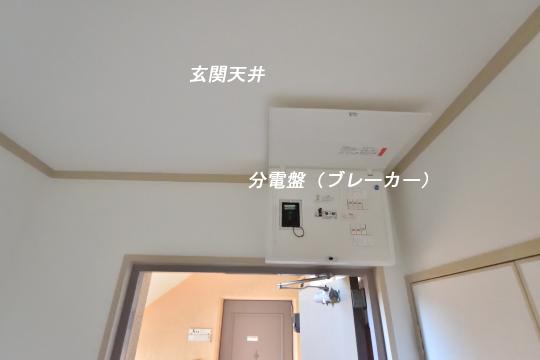 エスぺランタ安城の分電盤は玄関にあります