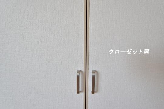 エスぺランタ安城のクローゼット扉と取っ手部分