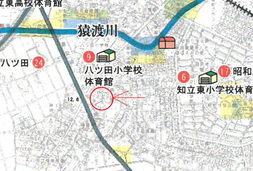 知立市八ツ田町新築分譲ハザードマップ