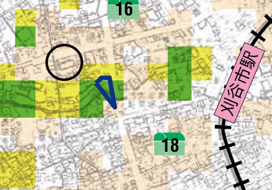 モアグレース刈谷広小路のハザードマップです