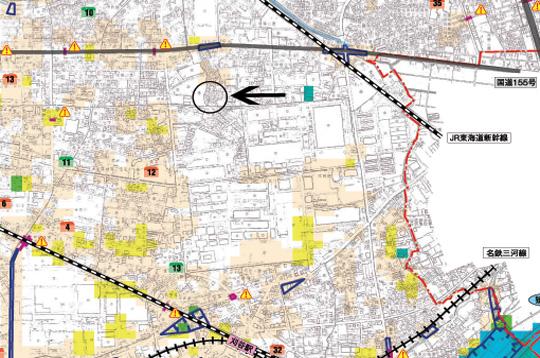 刈谷市池田町 ハザードマップ