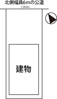 刈谷市東刈谷町3階建住宅の配置図
