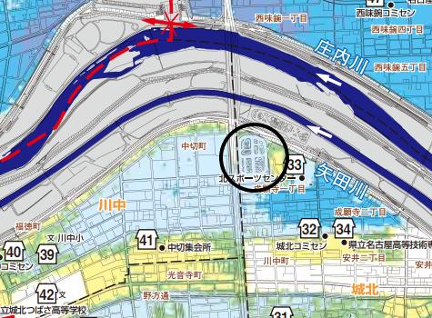 ザ・シーン城北アストロタワーのハザードマップ