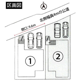 1号棟 配置図