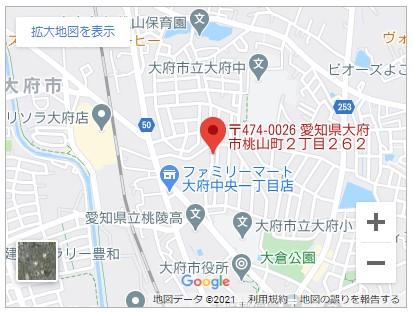 大府市桃山町二丁目【全1邸】地図