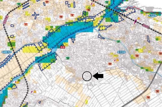 刈谷市高須町2丁目【全2棟】ハザードマップ