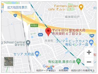 大府市共栄町四丁目【全2棟】地図