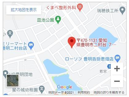 豊明市二村台3期【全2棟】地図