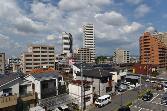 安城駅方面の眺望