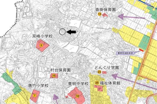 豊明市二村台七丁目【全2棟】ハザードマップ