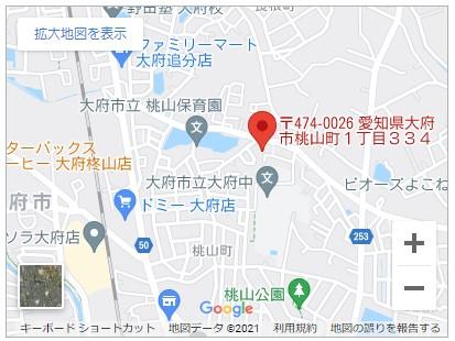 大府市桃山町一丁目【全2棟】地図
