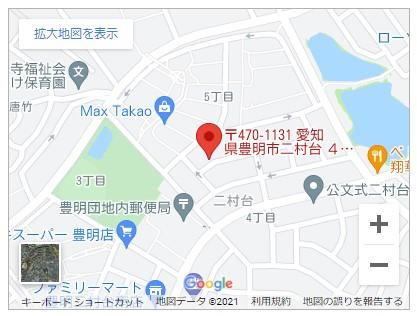 豊明市二村台第7【全1邸】地図