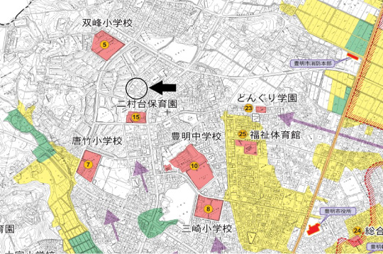 豊明市二村台第7【全1邸】ハザードマップ