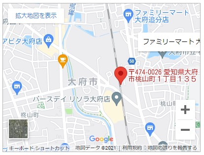 大府市桃山町一丁目【全3棟】地図