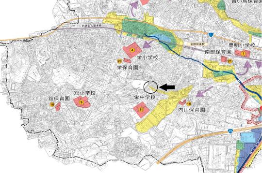 豊明市栄町大蔵下ハザードマップ