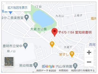 豊明市栄町大蔵下 地図